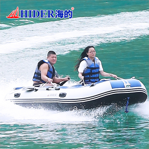 HIDER SD-380 inflatable boat hard bottom PVC rubber Inflatable Boat for sale