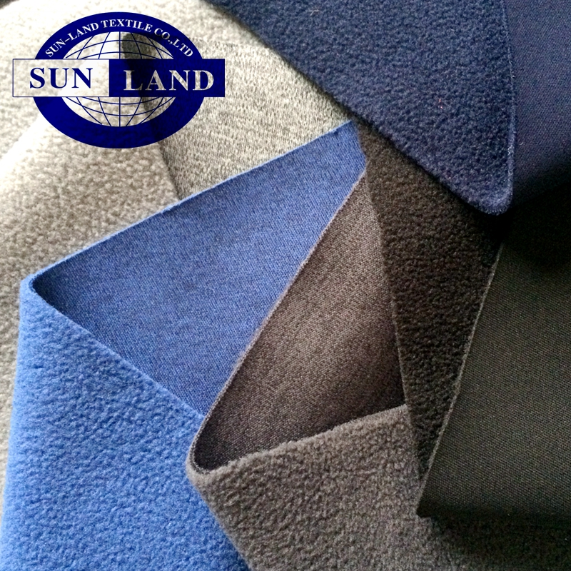 polyester soft 30D interlock fabric bonded micro polar fleece for jacket