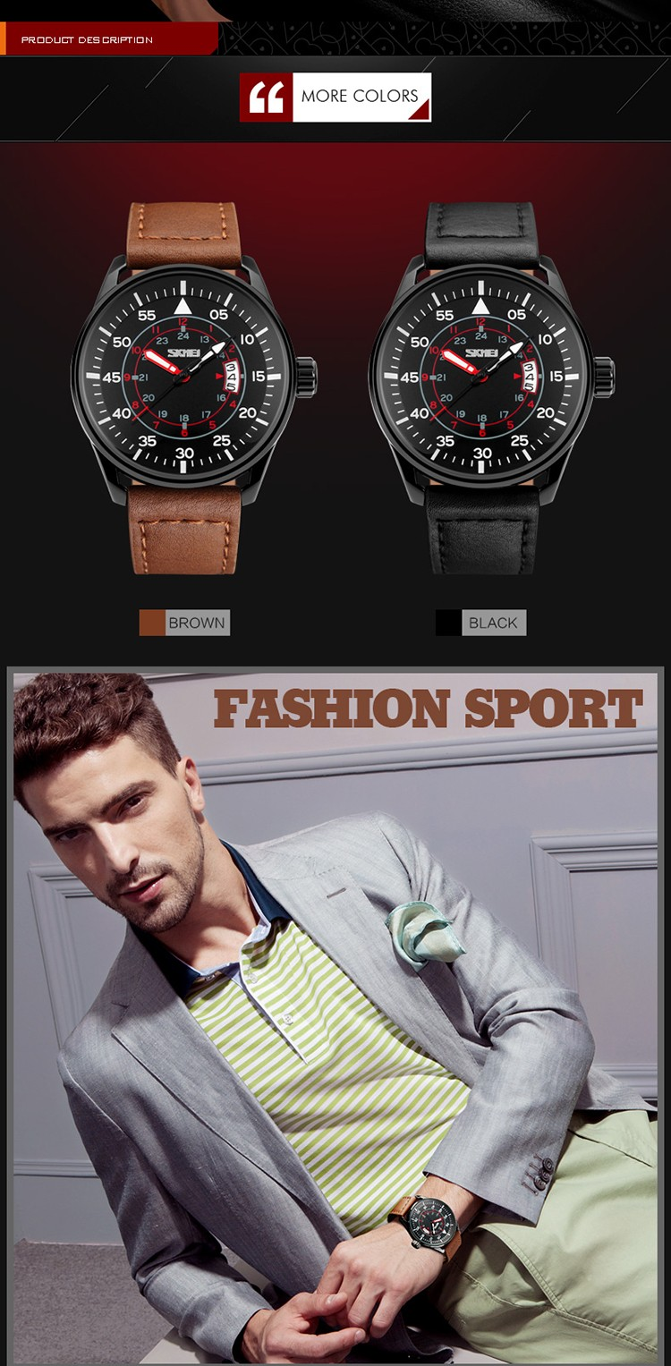 d08cceaf9 2017 New SKMEI Brand Men fashion sports Watches male analog quartz  waterproof auto date Wristwatches black