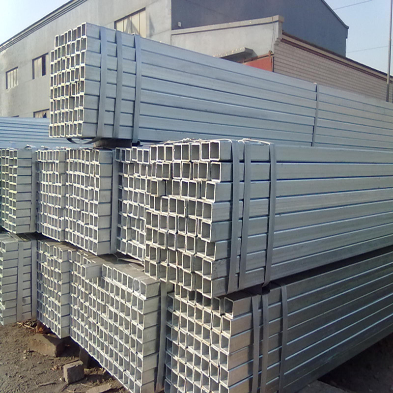 High quality zinc content 120g galvanized mild square hollow section