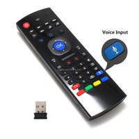 Air Mouse 2.4G Wireless Mini Keyboard Infrared IR Leaning Remote Control with Voice Input for Google Android TV Box