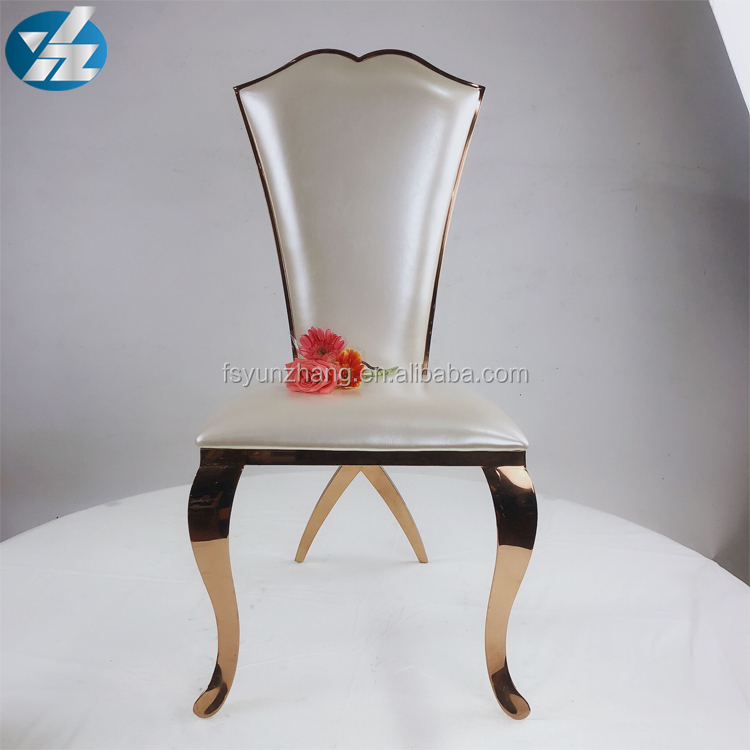 Golden stainless steel wedding <strong>chairs</strong> for wedding event