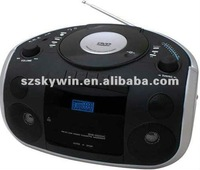 Portable Digital DVD Player with Boombox Cassette Player