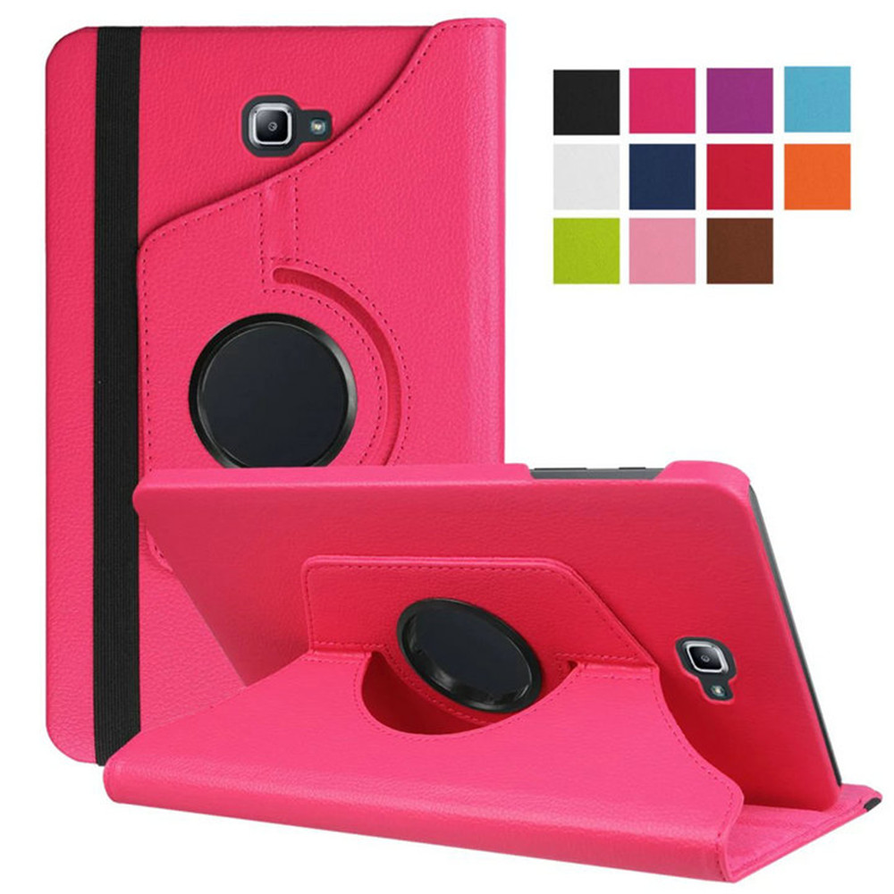 New Arrival PU Fashionable Anti-knock Colorful Tablet Case for Samsung Galaxy Tab A 10.1 T585C