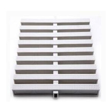 Guangzhou factory supply Plastic drain cover grate pvc floor overflow channel Swimming Pool Gutter Grating