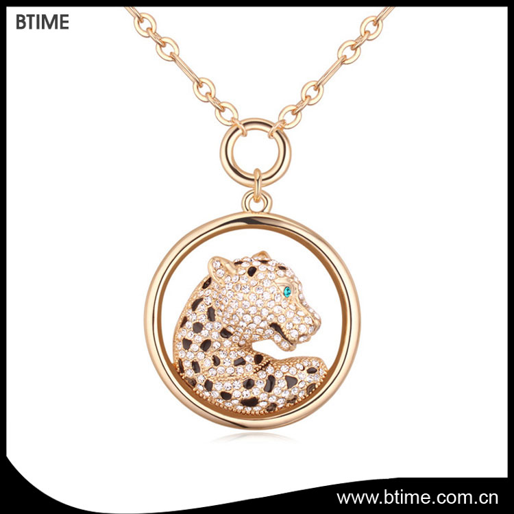 Long pendant necklace cute animal shaped jewelry necklace for women