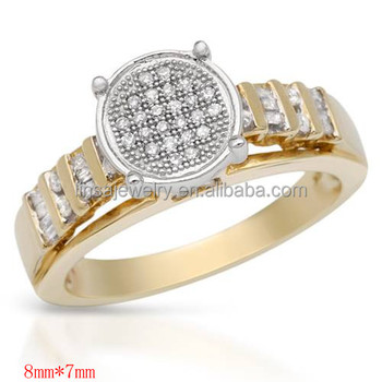 Design Gold Plated Jewelry Ring For Women, Arabic Gold Wedding Rings,round  Shape All
