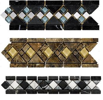 Mix Stone Mosaic Border Tile