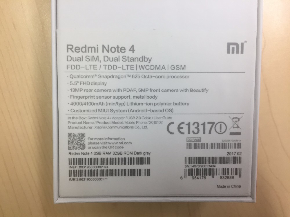 Global Version Xiaomi Redmi 4x Mobile Phone 3gb Ram 32gb Rom Snapdragon435  13mp 4100mah Miui8 Eu Charger - Buy Redmi 4x Global Version,Redmi 4x,Xiaomi