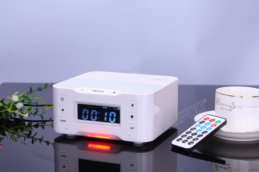 Nfc Bluetooth Sound Box Wireless Radio Speaker With Alarm Clock,Fm ...