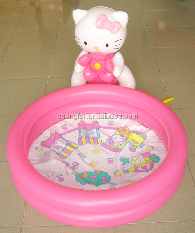Circular pink baby inflatable play swimming ocean ball pool with high quality