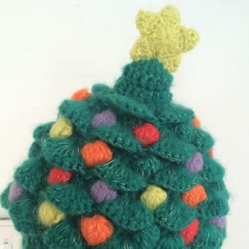 d7dcb94da3880 100%Arylic Soft Mohair Handmade Crochet Kid s Thick Colorful Christmas Tree  Hat