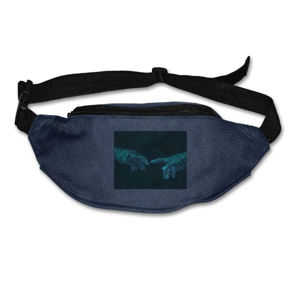Jessent Unisex Waist Bags Pockets Hands Fanny Pack Waist/Bum Bag Adjustable Belt Running Cycling Bag
