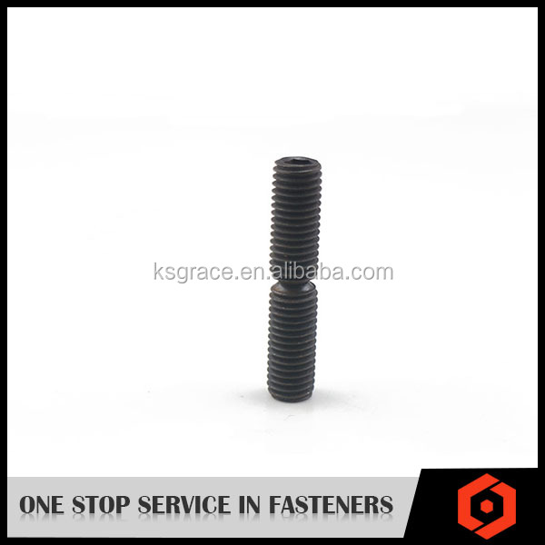 Grade 12.9 DIN916carbon steel oxide hex socket set screw with cup point