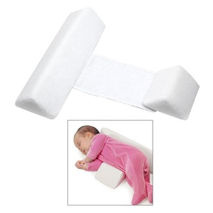 Adjustable foam anti roll safe protective wedge new born baby side sleep pillow