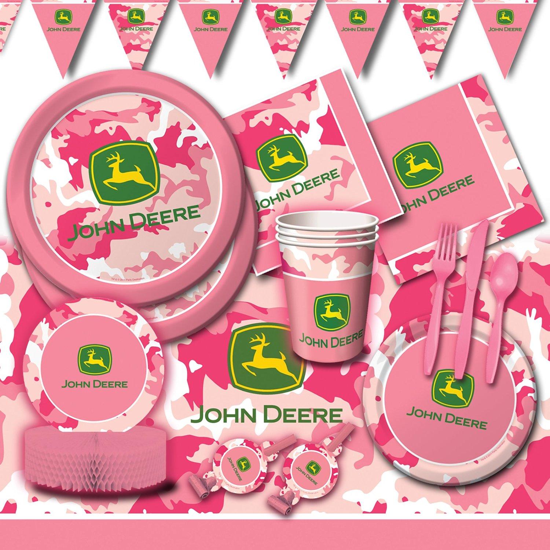 Buy Deluxe Girls John Deere Birthday Party Pink Camo Decoration Pack