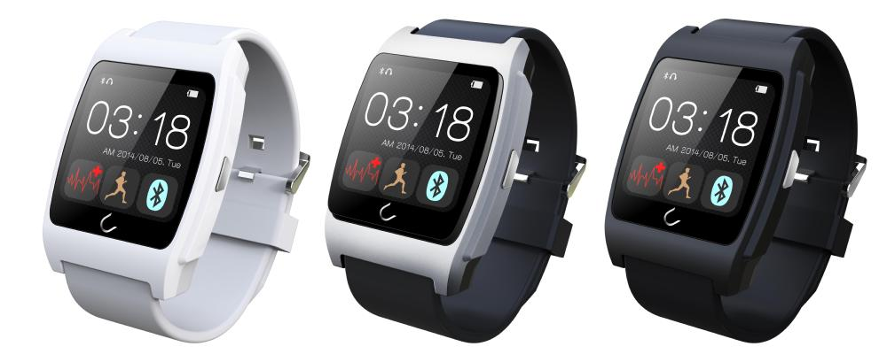 UX smart watch with heart rate monitor 1.44inch Bluetooth Phone watch MTK2501 Compatible IOS&ANDROID