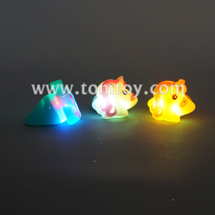 2018 Hot Soft Unicorn LED Flashing Light Up Jelly Rings