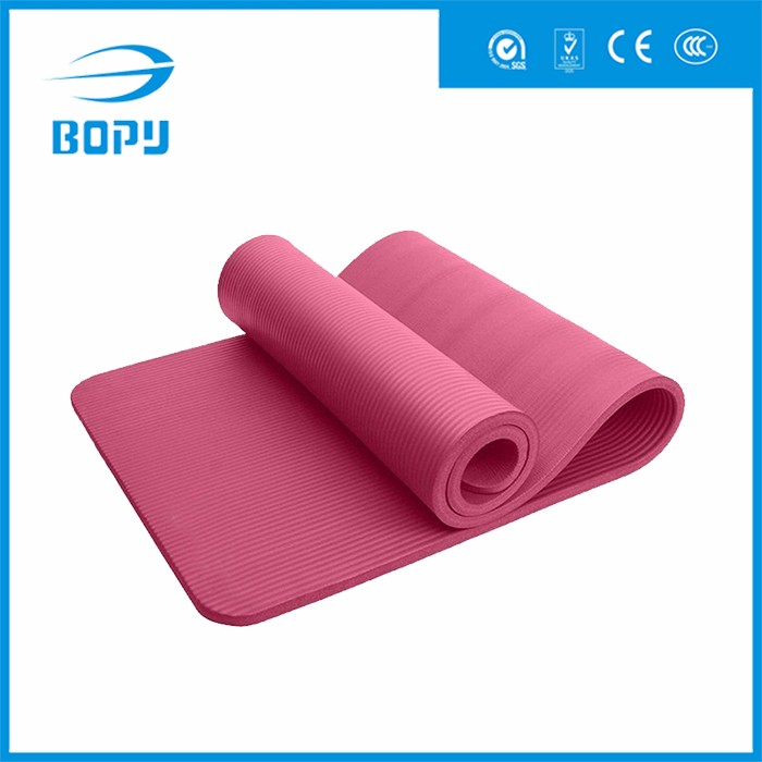 colorful high elasticity quick-drying thick NBR balance yoga mat with carrying strap