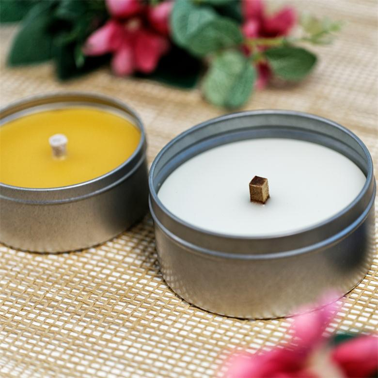100%cotton wicks natural paraffin wax candle tin candle metal holder candle
