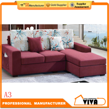 Modern Cheap Corner Sofa Set, Fabric Small Arab Floor Sofa