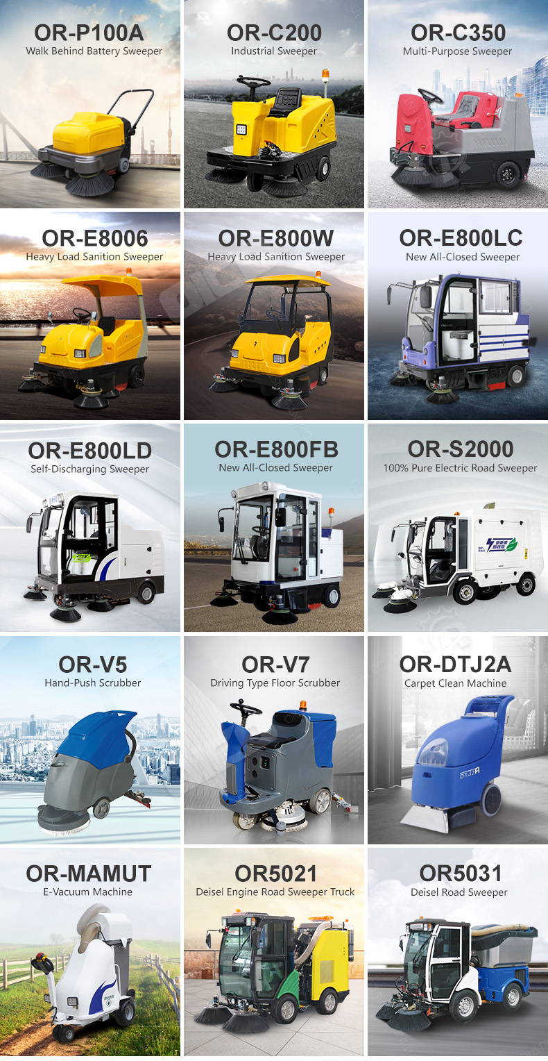 Driving Type C350 Industrial Electric Vacuum Street Sweeper