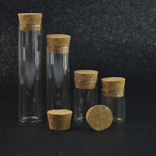 15ml Clear Mini Small Cork Stopper Glass Vial Jars Containers Bottles