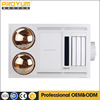 ceiling bath heater, infrared and PTC heating/lighting/ventilation in one unit