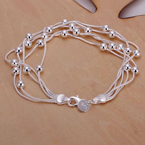 Браслет 925 серебро браслет 925 серебро ювелирные изделия браслет бусины ювелирные изделия pomn LH234