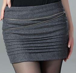 Office Lady Pencil Skirt Formal Mini Straight Dress Grey Peplum ...