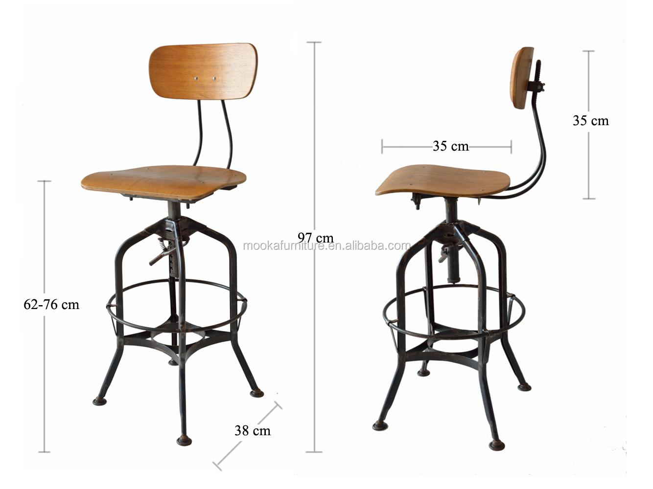 Pics photos bar stools for sale - Hot Sale Industrial Furniture Replica Adjustable Toledo Industrial Bar Stool