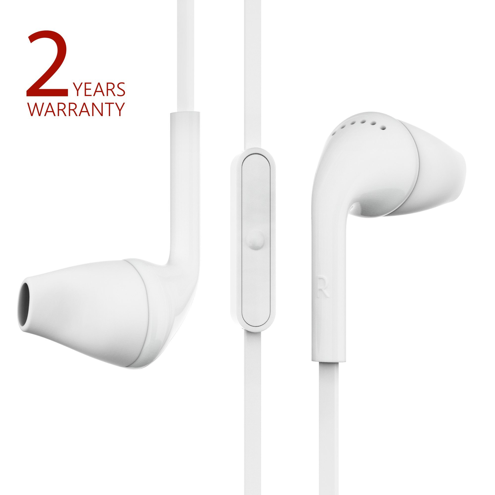 b22ee9fc1db Get Quotations · Ergonomic Wired Earbuds with microphone and remote control  by Probass - In Ear Headphones Earbuds with