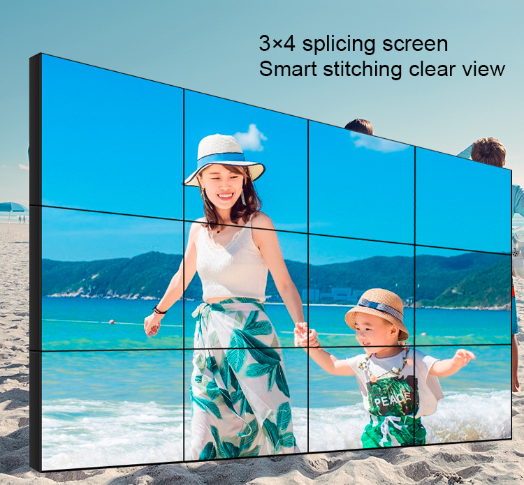 DID video wall LCD advertising player with 1.8mm narrow bezel 55 inch