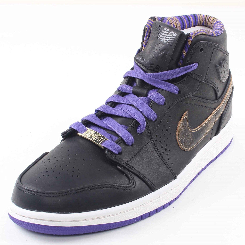 f890d8835188 Get Quotations · Nike Air Jordan 1 Mid Nouveau BHM - Black Court Purple  (629151-009)