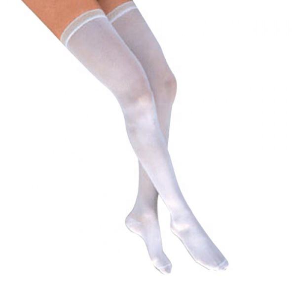 nurse anti-embolism thigh high stocking white compression socks