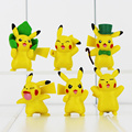 6Pcs Lot Cute Cartoon Poke Pikachu Mini Action Figures Doll Collections Toys Gifts For Children Free