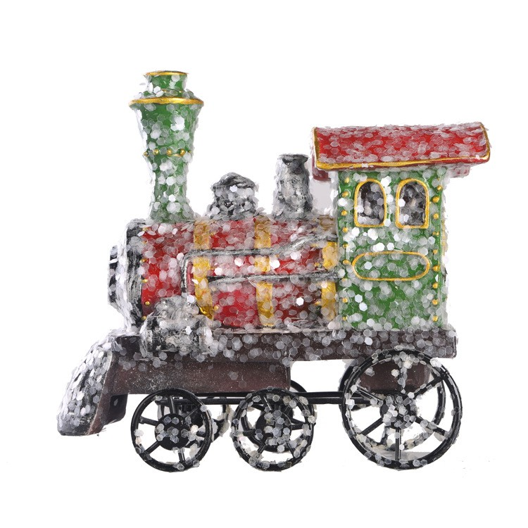 Europe outdoor christmas <strong>decorations</strong> unique exquisite little resin train for wholesale