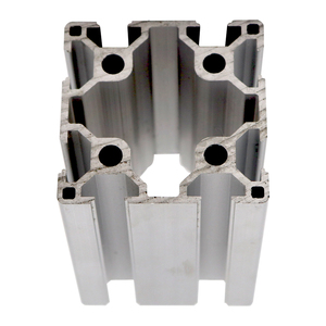 Silver Heavy Duty 80x80mm Modular Assembly System From Aluminium Tubular Al Aluminum Extrusion Profile For Railing Systems