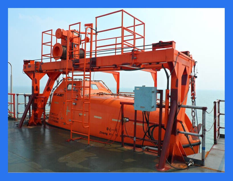 85kn Gravity Platform Boat Davit For Sale Marine Life Boat