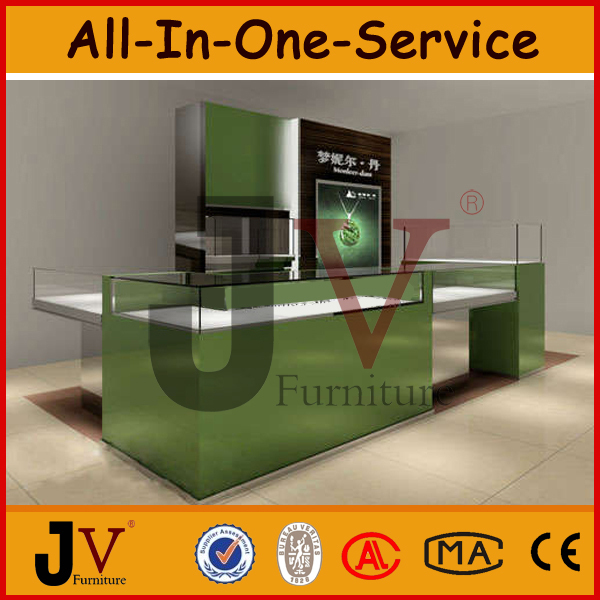 Modern Wooden And Glass Shop Cash Counter Table Design