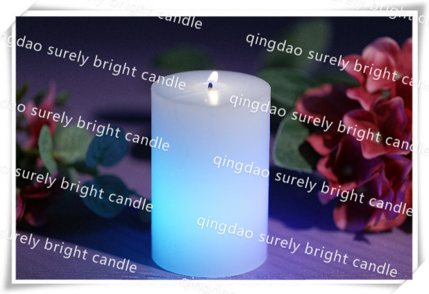 paraffin wax pillar candle/led artificial candle light