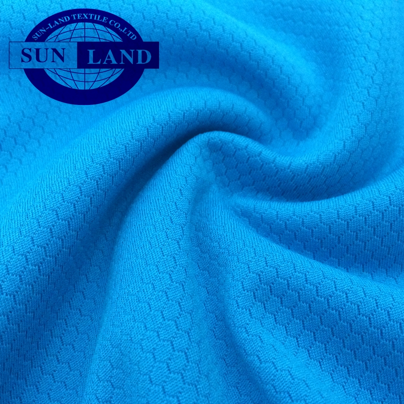 100% polyester knitted dri fit hexagon pattern mesh fabric