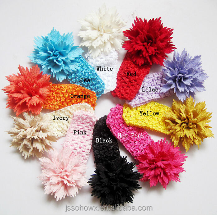 2015 New Style Top Baby Headbandcrochet Flower Baby Headbandgirls