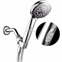 Amazon/Ebay Hot SellingHotelSpa 7-setting Series Spiral Handshower with Patented ON / OFF Pause Switch