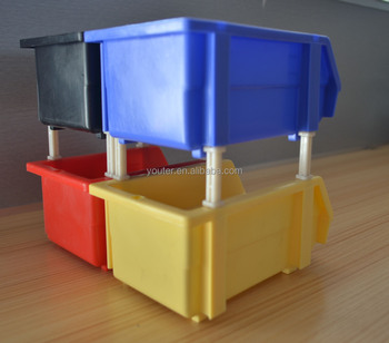 warehouse pp stackable storage bin for spare parts