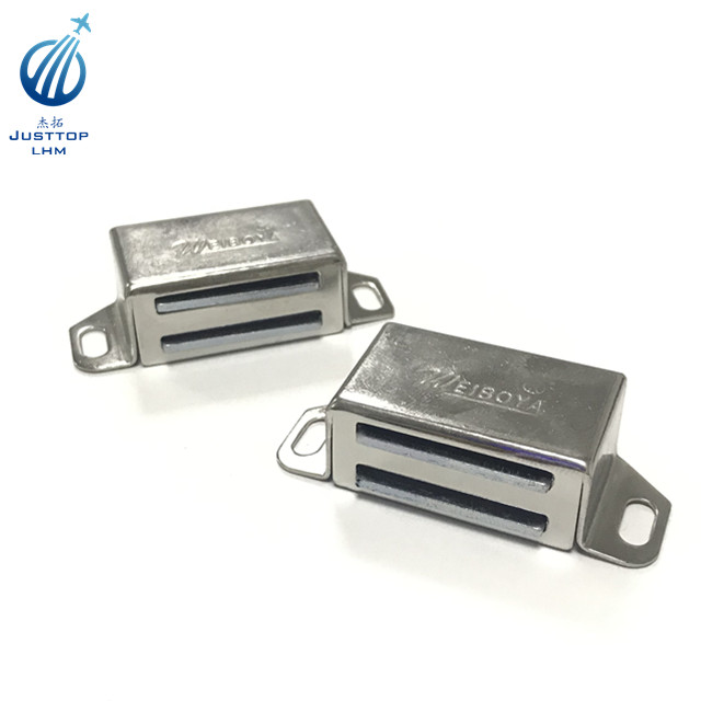 Stainless Steel Magnetic Cabinet Door Catch Closet Catches with Strong Magnetic Furniture Latch