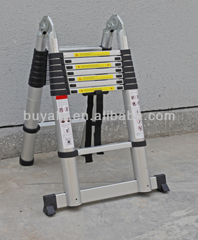 Aluminum Telescopic Double Sizes Extension Ladder
