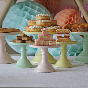 Milk Glass Cake Stand Plate Pastel Colours Buy Milk Glass Cake