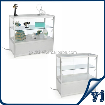 Retail Store Showcase Glass Display Counters Small Glass Display