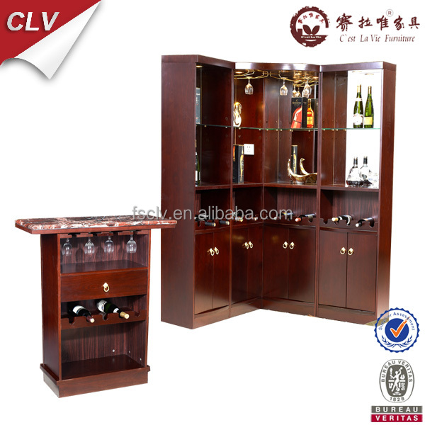 European Style Bar Counter Mini Bar Wood Cabinett09